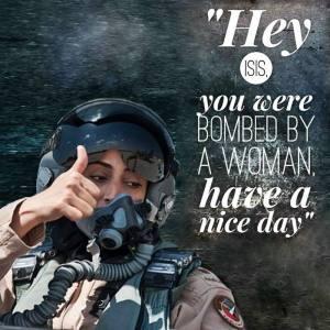 woman bombing isis